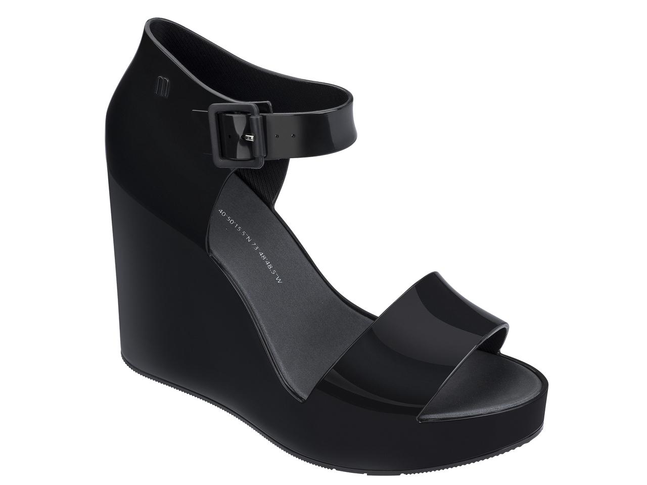 Melissa čierne topánky na kline Mar Wedge Black
